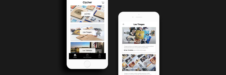 Clicher – impression de photos sur supports trendy