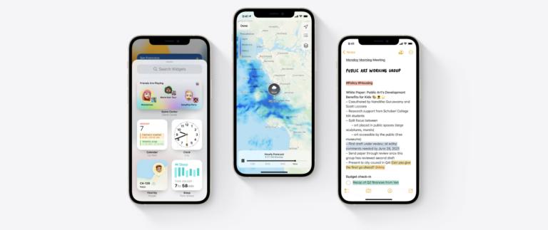 iOS 15, les nouvelles mises à jour